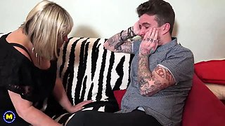 Big mature mom seduce modern tattoed son