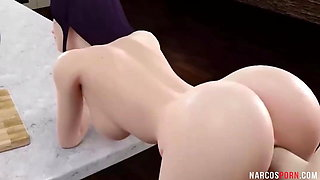 Sexy ass brunettes taking big dick raw in their cunts