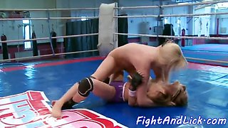 wrestling euro dykes finger each other