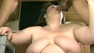 Incredible BBW, Kitchen porn clip