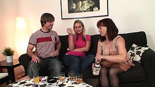She watches mother inlaw taboo sex