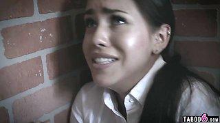 School counselor fucks a troubled latina schoolgirl