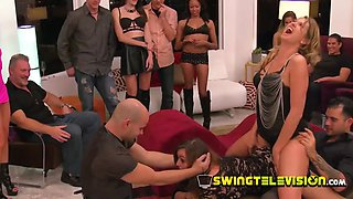 Swing hostess welcomes newbie swinger couple upon their arrival