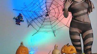 Dirty Witch Stripteasing on Webcam