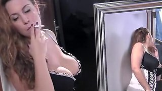 Horny homemade Smoking, Big Tits xxx clip