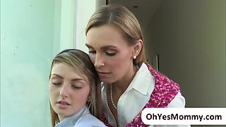 MILF Tanya makes love with teen Staci
