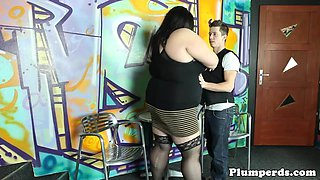 Gorgeous BBW domina gets pussylicked