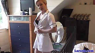 British mature nurse sharing cock in trio