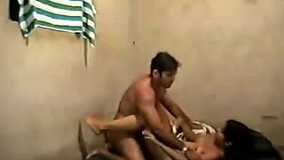 Long haired slut ride massive cock in her bedroom on camera