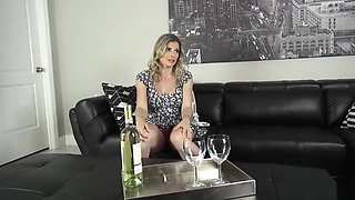 Big tits lonely housewife Cory Chase sucks her stepson's dick
