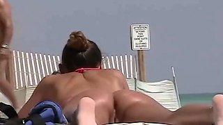 American Tan Beach Babe
