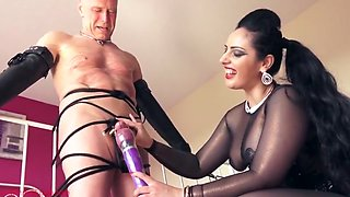 Mistress ly Lets Her Slave Cum