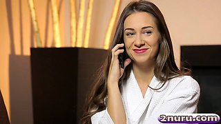 Masseuse Cassidy Klein Giving Pleasure In Bathroom