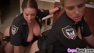 huge titted milf cops riding a monster black rod