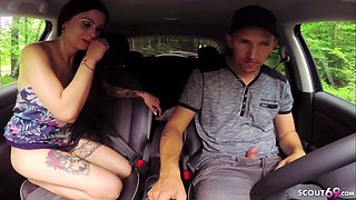 Young German Hitchhiker Teen Cream Fuck with Driver in Car
