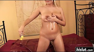 Pamela likes titty fucking while oiled up
