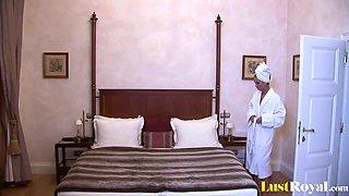 Horny blonde Mercedesz enjoys some bedroom anal