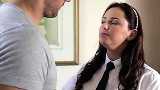 Astonishing schoolgirl does her horny stepdad