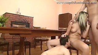 coupledomination - couple making full use of his slave