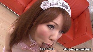 Momoko Aiuchi in Momoko Aiuchi is a slutty dream maid - AviDolz