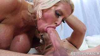 Milf with massive tits and huge nipples Alura Jenson gets fucked