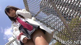schoolgirl gets down on her knees clip feature 2