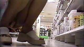 Spycam Low Angle Mini skirts Panties