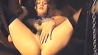 White and sexy redhead babe spreads her legs and plays with her pussy