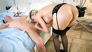 Mother and crony's daughter in law squirt cute ' step punish