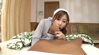Best Japanese chick Chika Eiro in Hottest POV, Nurse JAV movie