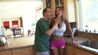 Crystal Lopez satisfies a horny dude by banging with him roughly