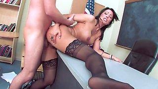 Hot Mature Teacher Seduce Her Student