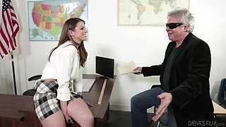Sexy Student Seduces Old Teacher @ Fornication 101 - 2nd Semester