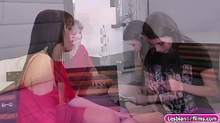 Alana Cruise enjoy licking Lucies young wet pussy