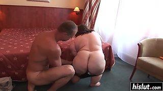 fat midget makes a big dick disappear