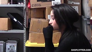 Isabella Nice gets a rough fuck in the office and is forced to eat cum