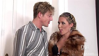 Stunning Cherry Jul and another chick get their butts pounded