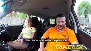 Fake Driving School Busty blonde learner fucks