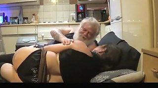 Old Man Fucks His Chubby Mature Emo Bitch