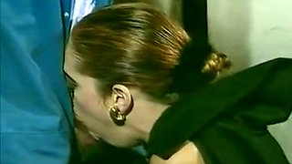 Redhead pale skin vampire sucking cock of a plumber