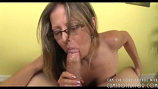 Horny MILF Taking Cock Deep In Her Mouth