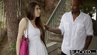 First Interracial For Pretty GF Zoe Wood