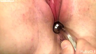 great gym clitoral masturbation and insertion