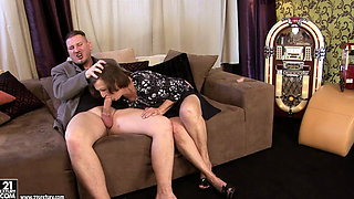 granny Eve Tickler - a cock for eve