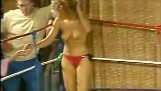 Topless Ring Wrestling in Oil