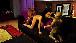 3D Babes Destroyed by Horny Monsters!