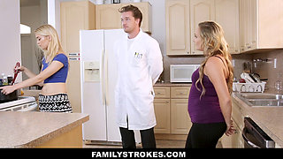 FamilyStrokes- Hot Sister And Mom Tricked And Fucked By StepBro