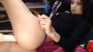sexy babe nice body boobs machine ficked big didlo