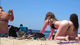 Super Sexy Ass Thongs Bikini teens Beach Voyeur HD Spy Video