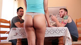 Nenetl Arvil and a horny guy finally get to play with a big cock